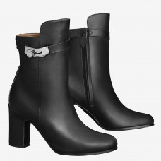 Hermes Black Joueuse Ankle Boots