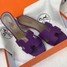 Hermes Purple Epsom Oasis Sandals