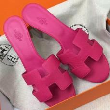 Hermes Rose Red Epsom Oasis Sandals