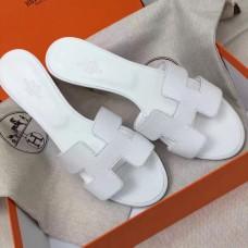 Hermes White Epsom Oasis Sandals