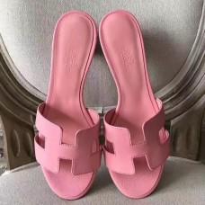 Hermes Pink Epsom Oasis Sandals