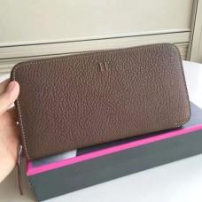 Hermes Etoupe Clemence Azap Zipped Wallet