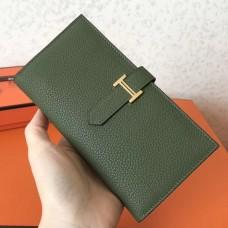 Hermes Canopee Clemence Bearn Gusset Wallet