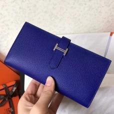 Hermes Blue Electric Epsom Bearn Gusset Wallet