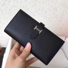 Hermes Black Epsom Bearn Gusset Wallet