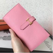 Hermes Pink Epsom Bearn Gusset Wallet