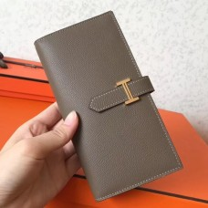 Hermes Taupe Epsom Bearn Gusset Wallet