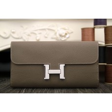 Hermes Constance Wallet In Etoupe Epsom Leather