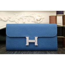 Hermes Constance Wallet In Jean Blue Epsom Leather