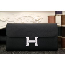 Hermes Constance Wallet In Black Epsom Leather