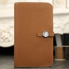 Hermes Dogon Combine Wallet In Brown Leather