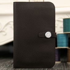 Hermes Dogon Combine Wallet In Chocolate Leather
