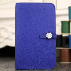 Hermes Dogon Combine Wallet In Electric Blue Leather