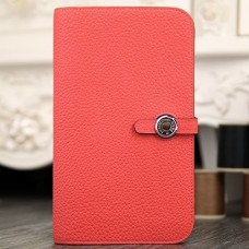 Hermes Dogon Combine Wallet In Rose Lipstick Leather