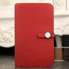 Hermes Dogon Combine Wallet In Red Leather