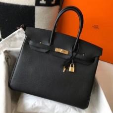 Hermes Birkin 30cm 35cm Bag In Black Clemence Leather