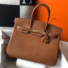 Hermes Birkin 30cm 35cm Bag In Brown Clemence Leather