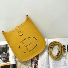 Hermes Evelyne III TPM Mini Bag In Yellow Clemence Leather