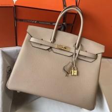 Hermes Birkin 30cm 35cm Bag In Argile Clemence Leather