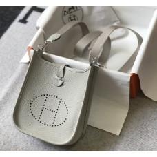 Hermes Evelyne III TPM Mini Bag In white Clemence Leather