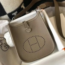 Hermes Evelyne III TPM Mini Bag In Taupe Clemence Leather