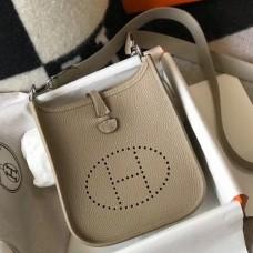 Hermes Evelyne III TPM Mini Bag In Tourterelle Clemence Leather