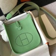 Hermes Evelyne III TPM Mini Bag In Vert Criquet Clemence Leather