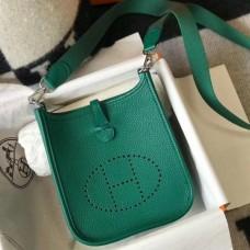 Hermes Evelyne III TPM Mini Bag In Vert Vertigo Clemence Leather