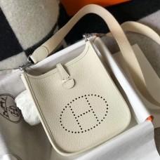 Hermes Evelyne III TPM Mini Bag In Craie Clemence Leather