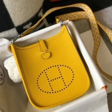 Hermes Evelyne III TPM Mini Bag In Yellow Clemence Leather