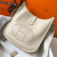 Hermes Evelyne III 29 PM Bag In Craie Clemence Leather