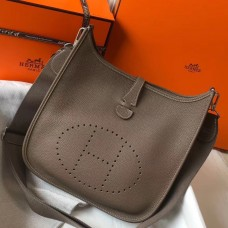 Hermes Evelyne III 29 PM Bag In Taupe Clemence Leather