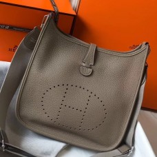 Hermes Evelyne III 29 PM Bag In Tourterelle Clemence Leather