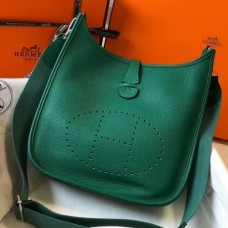 Hermes Evelyne III 29 PM Bag In Vert Vertigo Clemence Leather