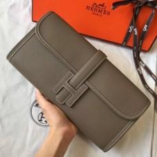 Hermes Jige Elan 29 Clutch Bag In Taupe Epsom Leather