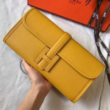 Hermes Jige Elan 29 Clutch Bag In Yellow Epsom Leather