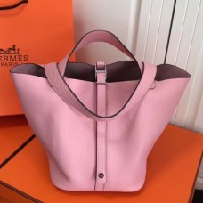 Hermes Pink Picotin Lock MM 22cm Bag