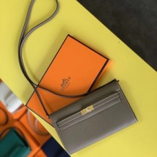 Hermes Kelly Classique To Go Wallet In Taupe Epsom Calfskin