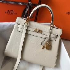 Hermes Beton Clemence Kelly 25cm GHW Bag