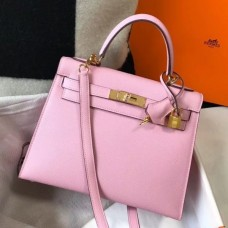 Hermes Kelly 28cm Sellier Bag In Mauve Sylvestre Epsom Leather