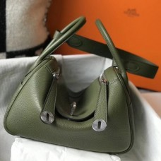 Hermes Lindy 26cm Bag In Canopee Clemence With PHW