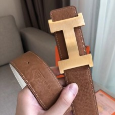 Hermes Constance 2 Belt Buckle & Brown/White Epsom 42MM Strap