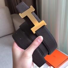 Hermes Constance Belt Buckle & Cafe Clemence 38 MM Strap