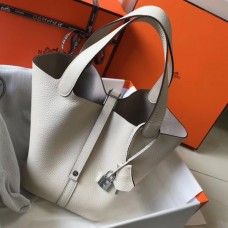 Hermes Picotin Lock 18 Bag In Beton Clemence Leather