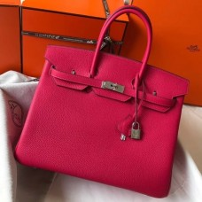 Hermes Birkin 30cm 35cm Bag In Rose Red Clemence Leather