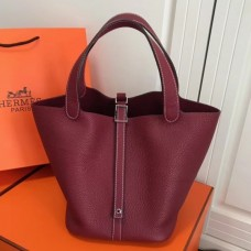 Hermes Bordeaux Picotin Lock MM 22cm Bag