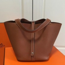 Hermes Brown Picotin Lock MM 22cm Bag