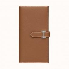 Hermes Brown Epsom Bearn Gusset Wallet