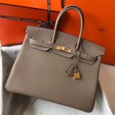 Hermes Birkin 30cm 35cm Bag In Grey Clemence Leather