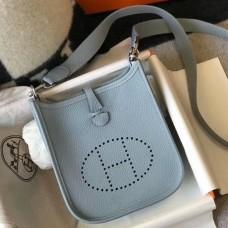 Hermes Blue Lin Evelyne II TPM Messenger Bag